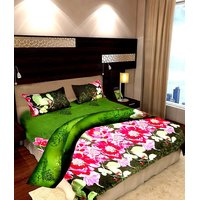 VUGIS Magical Flower Print 3D Double Bedsheet Sets Magical Flower