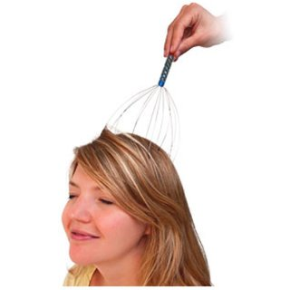 Hand Held Head Massager - Deep Relaxation (Assorted Color)(Pack Of 1)