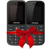 Combo Of Peace P1 (Black)  Peace P4 (Black)  FM Feature