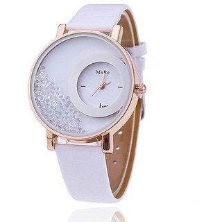 mx re white woman analog watch by MORLI