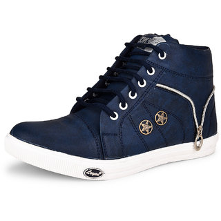 Essence Men's Blue Casual Synthetic Lace-Up Ankle Sneakers