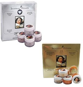 combo of shahnaj hussain gold and diamond facial kit