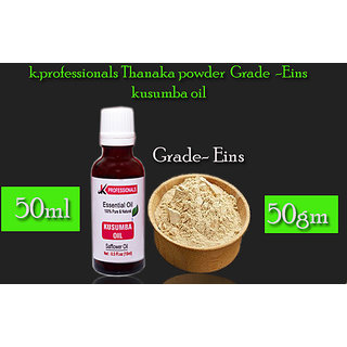Thanaka Powder Grade EINS 50 Gm Kusumba oil 50 ml for Hair Removal Permanent