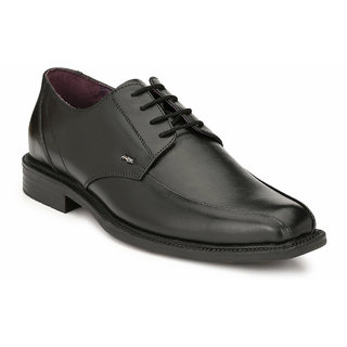 Hitz Mens Black Original Leather Derby Formal Shoes