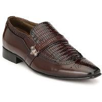 Hitz Men's Brown Original Leather Slip-On Semi-Formal S