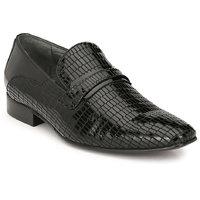 Hitz Men's Black Original Leather Slip-On Semi-Formal S