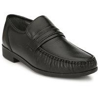 Hitz Men's Black Original Leather Slip-On Semi-Formal L