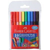 Faber-Castell Connector Pen Set - Pack of 10 (Assorted)