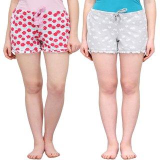 Kotty Printed Women's Multicolor Night Shorts