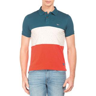 Flying Machine Men's Multicolor Polo T-shirt