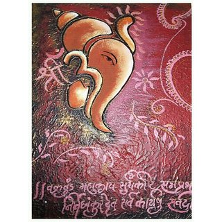 Lord Ganesha Oil Painting