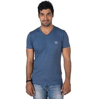 Mens V- Neck Blue SS T-shirt