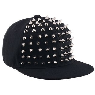 MOCOMO Era Black Punter Spike cap for Men/ baseball cap/hiphop cap/hip-hop hat