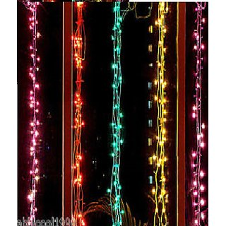 DLT diwali rice light 10mtr pack of 20.5 diff. colours and free jointer for 20 lights