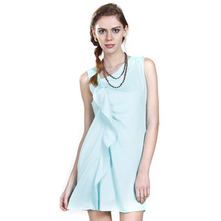 Knee Length Dress In Sea Green