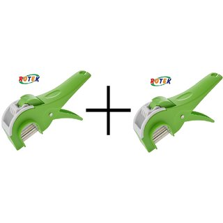 ROTEK Plastic Green Choppers & Dicers  Combo of 2 Pieces
