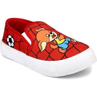 Myau Boys Girls Slip on Sneakers (Red)