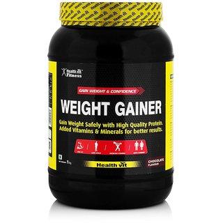 Healthvit Weight Gainer, Chocolate Flavour 1kg / 2.2lbs