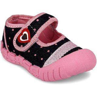 Myau Boys Girls Velcro Casual Boots (Pink)