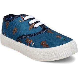 Myau Boys Girls Lace Sneakers (Blue)