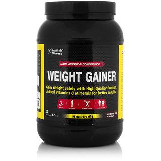 Healthvit Weight Gainer (1.5Kg / 3.31lbs, Chocolate)