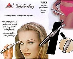 Bi-Feather Hair Remover Women King Eye Brow Trimmer Safe and Easy Removal