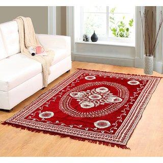 Valtellina Red chenille carpet (85 inch X 55 inch) CNT-02