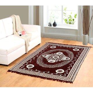 Valtellina Brown chenille carpet (85 inch X 55 inch) CNT-03