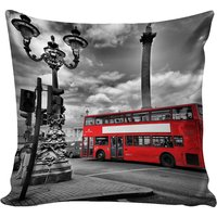B7 CREATIONS Digital Print Abstarct Bus Velvet Cushion Cover 1 Pcs - 16x16/40x40 cm