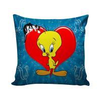 B7 CREATIONS Digital Print Tweety Bird Velvet Cushion Cover 1 Pcs - 16x16/40x40 cm