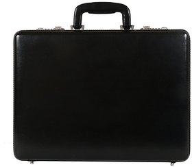C Comfort Faux Leather Briefcase Black-EL555BL
