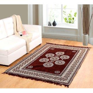 Valtellina Brown chenille carpet (85 inch X 55 inch) CNT-09