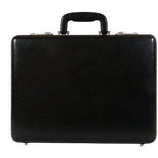 C Comfort Faux Leather Briefcase Black-EL555BL