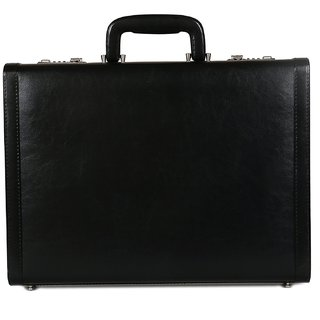 C Comfort Faux Leather Briefcase Black-EL558BL