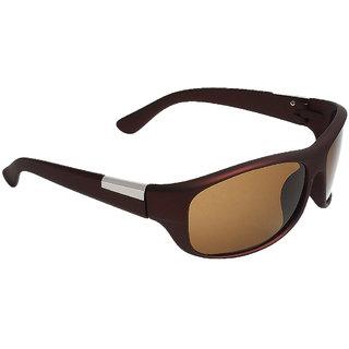Zyaden Brown Wrap-around Sunglasses