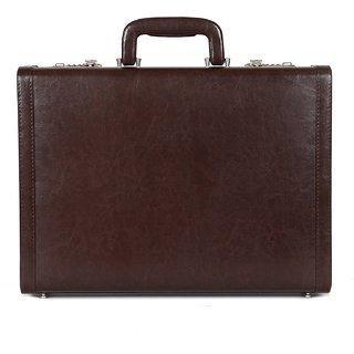 C Comfort Faux Leather Briefcase Brown-EL559BR