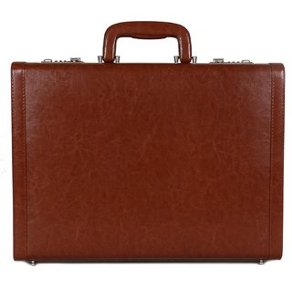 C Comfort Faux Leather Briefcase Tan-EL560TN