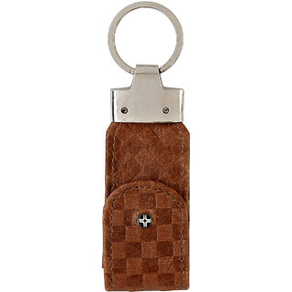JL Collections Brown Leather Usb Keypouch