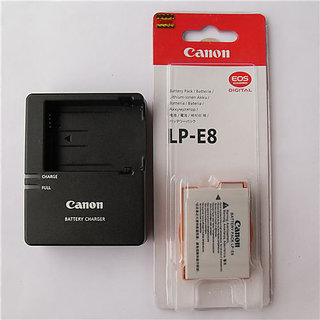LP-E8 Battery  LC-E8C Charger for Canon X4 X5 X6 Rebel T4i T3i T2i EOS 550