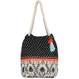 Pick Pocket Canvas Ethnic Multicolor Jholi