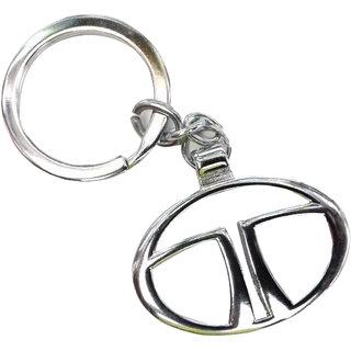 CP BIGBASKET Tata chrome plated steel imported key chain key ring car logo for Nano Bolt Zest Vista Indica Manza Indigo Safari Storme Safari Dicor Sumo Gold Sumo Grande Venture Xenon XT Aria Movus