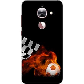 LeEco Le 2 Case, LeTV Le 2 Case, Football Blast Black Slim Fit Hard Case Cover/Back Cover for Le TV Le 2/Le Eco Le 2