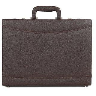 C Comfort Faux Leather Briefcase Brown-EL565BR