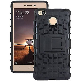 premium selection b1ee1 bb3c4 Redmi 4 (NEW) Defender Back Cover Kick Stand Hard Dual Armor Hybrid Rubber  Back Case Cover