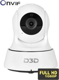 D3D Wireless Full HD (1920X1080)P IP Wifi CCTV Indoor Security Camera Model - D6022Y