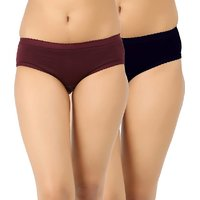 JIL- Delux Women's Pack Of 2 Plain Panty ( Color May Vary)
