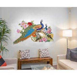 Wall Stickers For Living Room Peacock Birds Nature Part 90