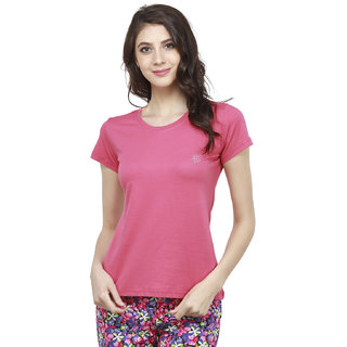 Bongio Multicolor Plain Round Neck Tshirts  For Women
