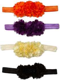 Pikaboo Blossom Sequence Baby Headbands For Girl- Pack Of 4