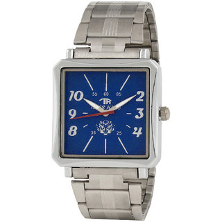 Tigerhills Rectangle Dial Silver Metal Strap Quartz Watch For Men Model T1010174